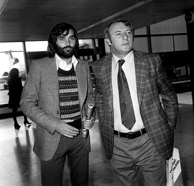 George Best & Tommy Docherty – Heathrow Airport – London