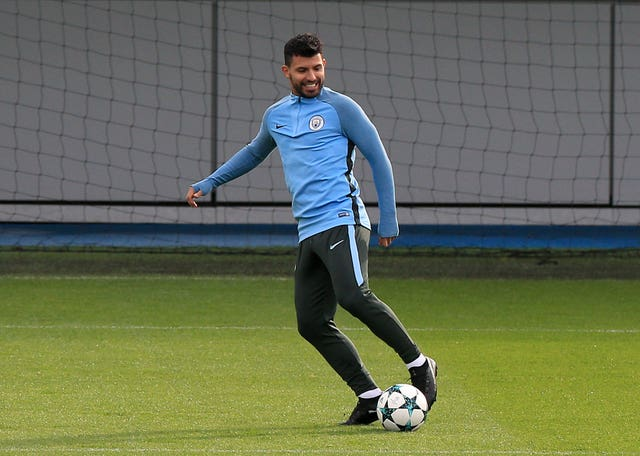 City striker Sergio Aguero only returned to training on Wednesday
