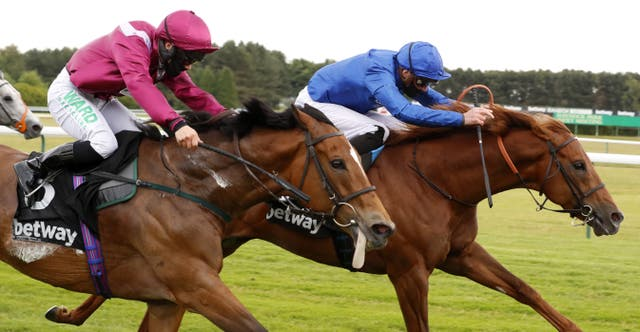 Space Blues (blue cap) could take his chance in the July Cup