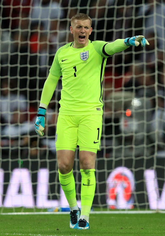 Goalkeeper Jordan Pickford made his England debut against Germany on Friday night.