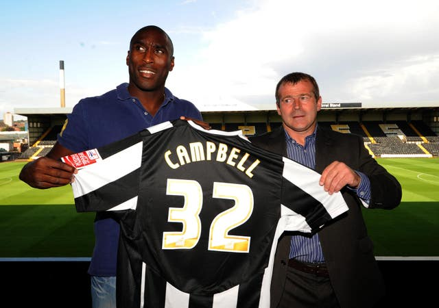 Campbell had a brief spell with Notts County