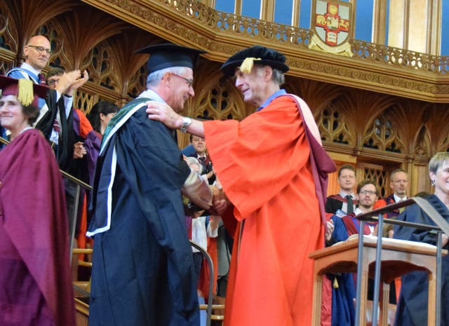 Sir Ranulph Fiennes with Gianni Angelini