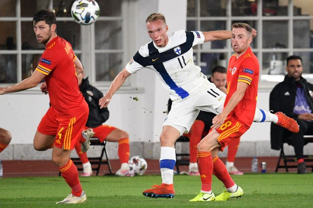 CORRECTION Finland Wales Nations League Soccer