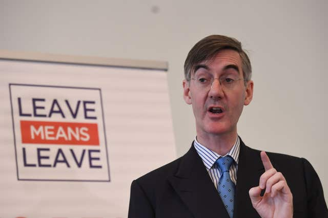 Jacob Rees-Mogg, leader of the pro-Brexit European Research Group of Tories (Stefan Rousseau/PA)