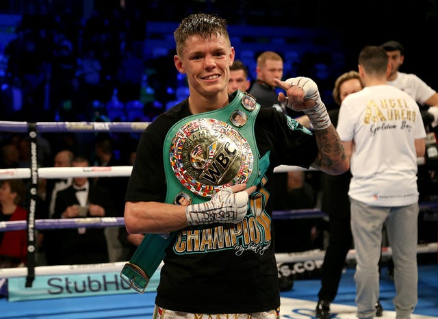 Charlie Edwards beat Angel Moreno in their WBC flyweight title bout at the Copper Box Arena