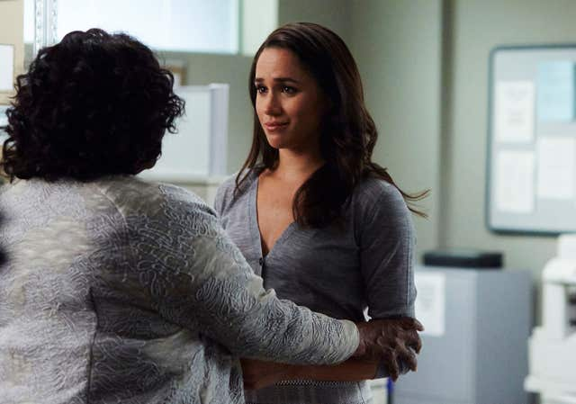 Meghan playing Rachel Zane in Season six of the hit US legal drama Suits.Shane Mahood/USA Network