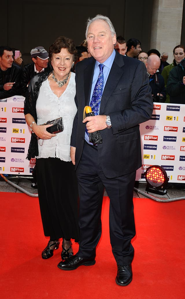 Peter Sissons and his wife, Sylvia