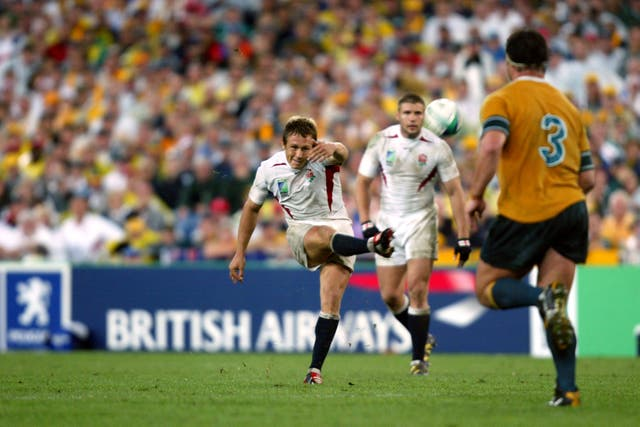 England claim their first World Cup title thanks to Jonny Wilkinson's last-minute drop goal, denying Australia a third title at their own Telstra Stadium in Sydney