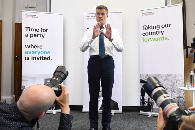 Mark Harper launches his campaign for the Tory leadership
