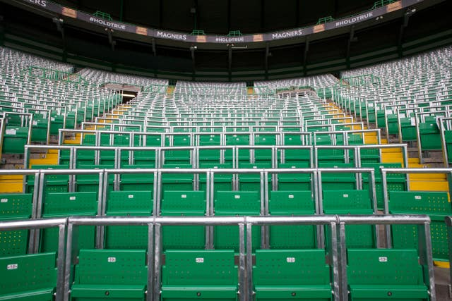 Celtic Park has had a safe standing section since 2016