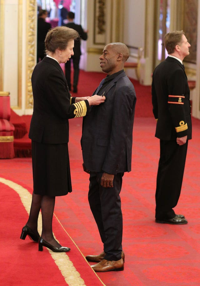 Andrew Roachford is made an MBE by the Princess Royal