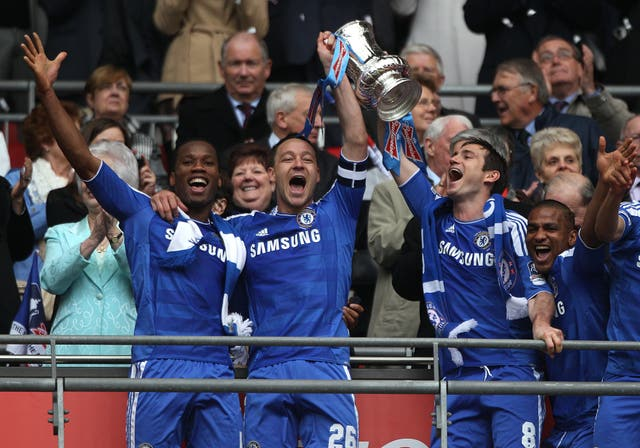 Terry won the FA Cup five times at Chelsea