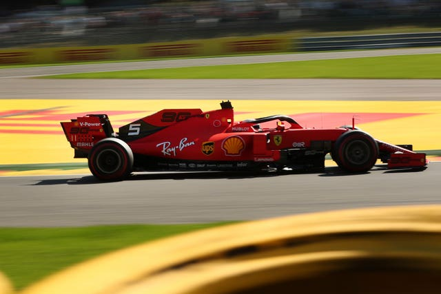 Sebastian Vettel on his way to top spot in first practice