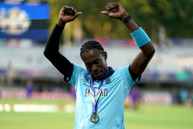 Jofra Archer (right) enjoyed a memorable start to his England career last summer