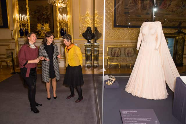 Princess Eugenie's evening gown