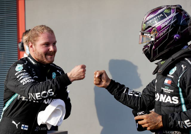 Valtteri Bottas, left, got the better of his team-mate