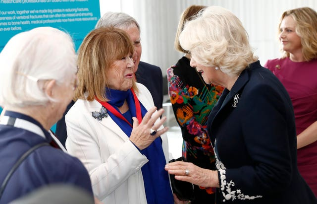 The Duchess of Cornwall met Nerys Hughes
