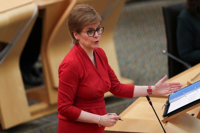 Nicola Sturgeon in Scottish Parliament