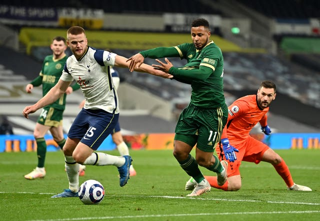 Eric Dier (left) in action for Tottenham