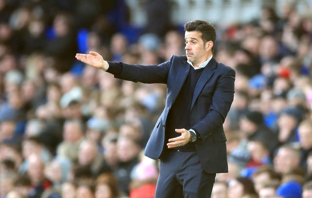Marco Silva was unhappy with the officials on Sunday