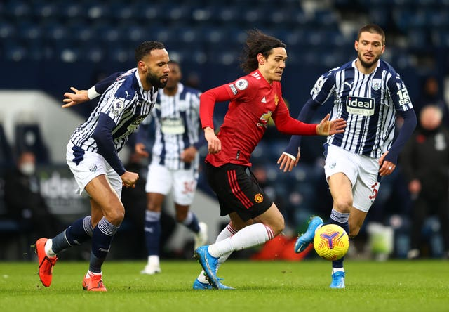 Edinson Cavani played against West Brom on Sunday