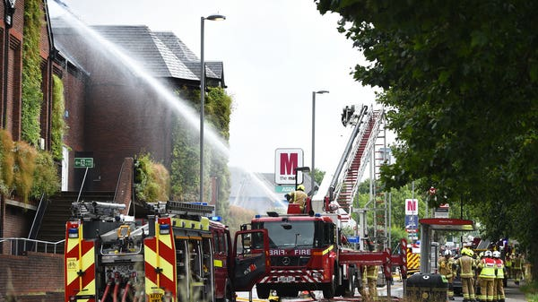 150 firefighters bring huge blaze at shopping centre under control