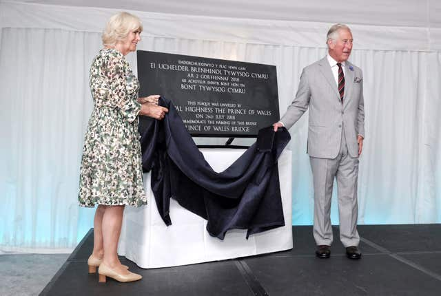 Charles and Camilla in Wales