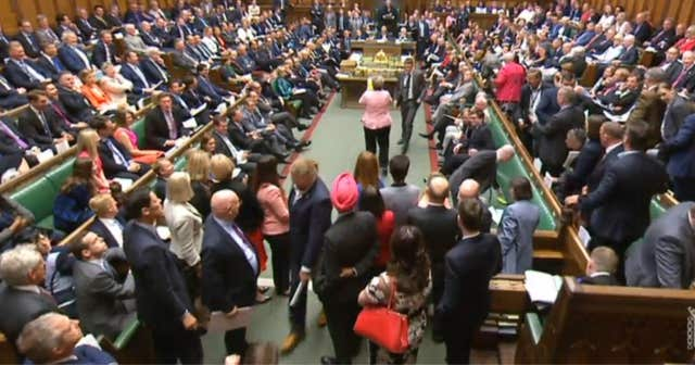 SNP MPs walk out of the House of Commons