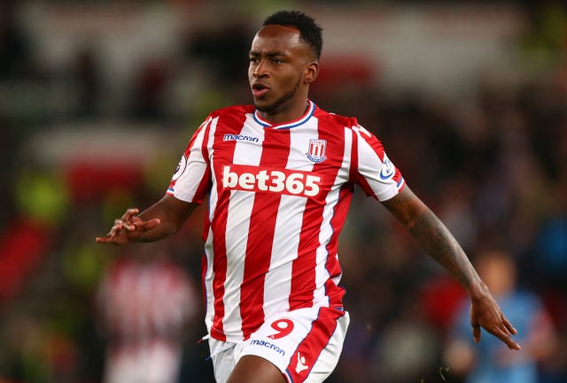 Saido Berahino in action for Stoke