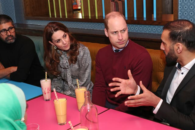 The royals during a visit to MyLahore restaurant in Bradford