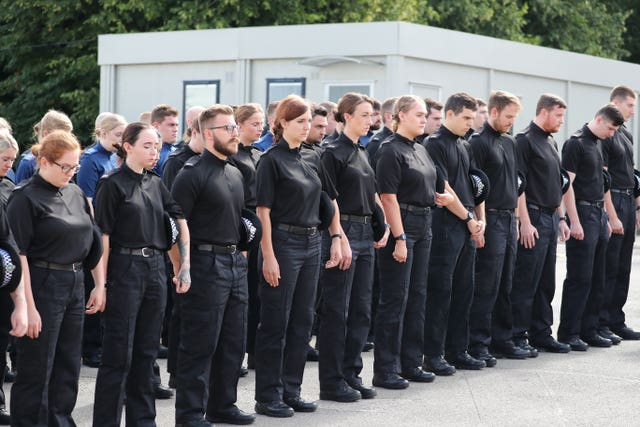 Thames Valley Police was joined in a minute's silence by other police forces on Friday (Steve Parsons/PA)