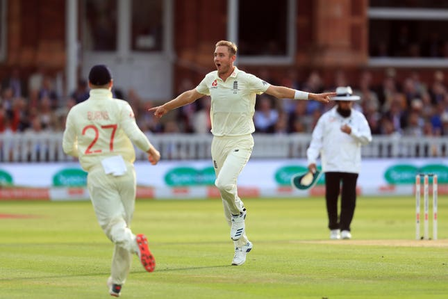 Stuart Broad gave England some hope