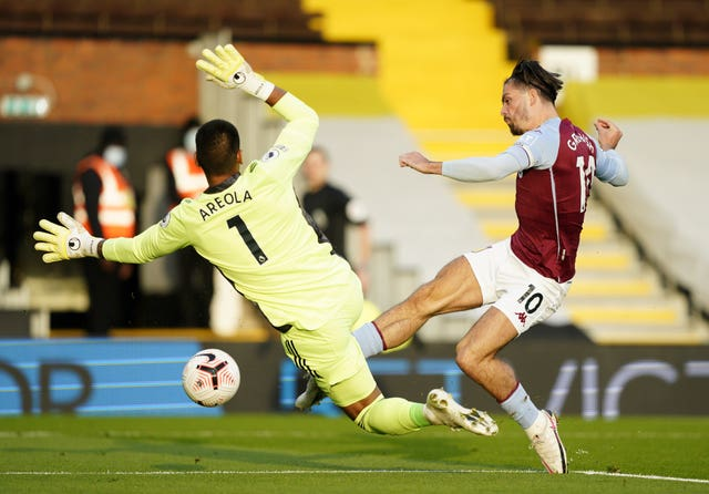 Jack Grealish opened the scoring at Craven Cottage