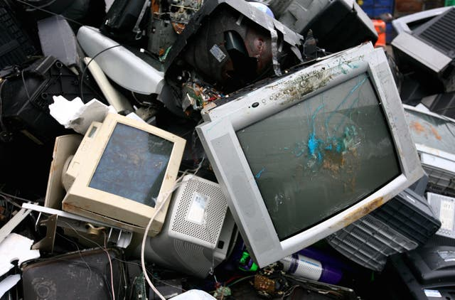 Old TVs and monitors recycled