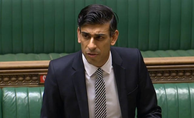 Rishi Sunak in the House of Commons