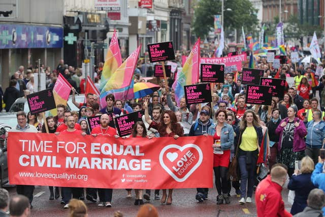Belfast sex marriage rally