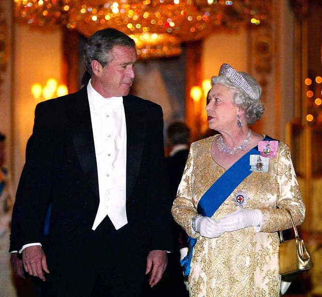 The Queen and George Bush