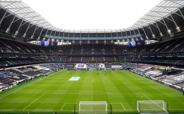 Tottenham's new stadium was fitted with rail seats