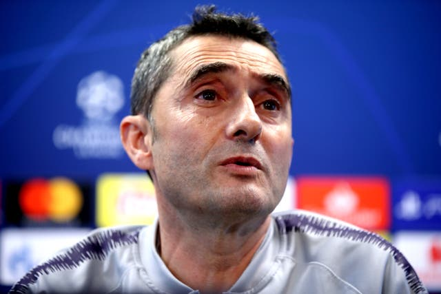 Barcelona manager Ernesto Valverde is wary of Liverpool's threat