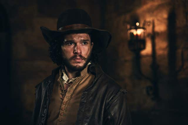Kit Harington playing Robert Catesby in Gunpowder (Robert Viglasky/BBC)