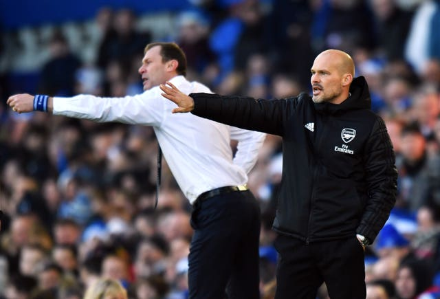 Duncan Ferguson (left) and Freddie Ljungberg were taking interim charge for the last time