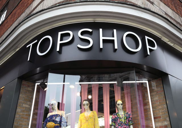 People walking past Topshop in Oxford Street (Yui Mok/PA)