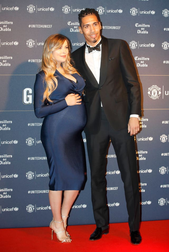 Chris Smalling and wife Sam Cooke