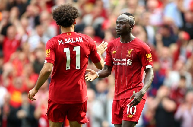 Sadio Mane (right) and Mohamed Salah (left) scored Liverpool's goals against Newcastle