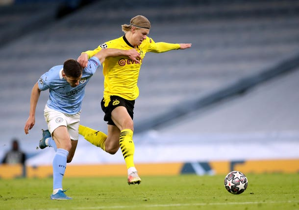 Dortmund forward Erling Haaland had a fairly quiet night