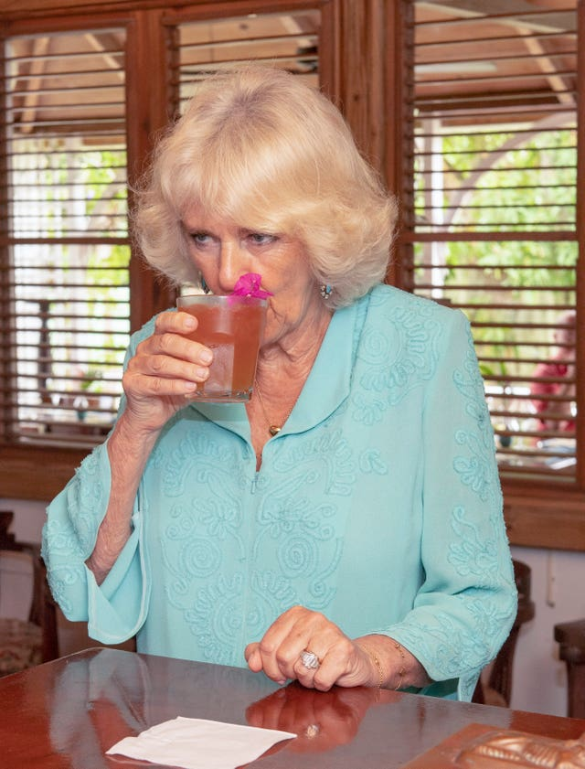 The Duchess of Cornwall samples rum punch