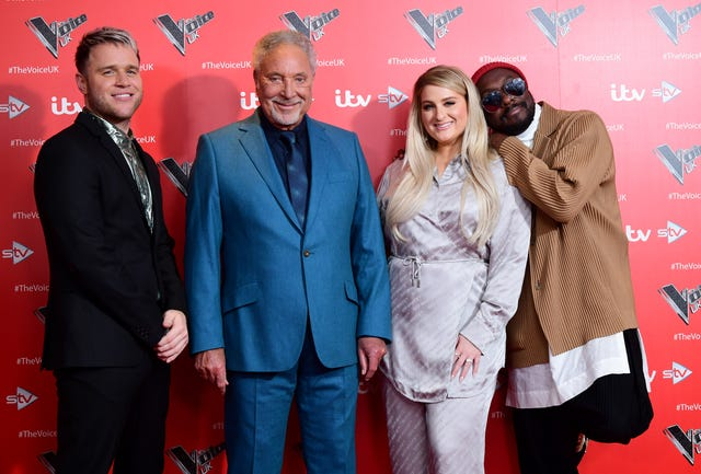 Olly Murs, Sir Tom Jones, Meghan Trainor and Will.i.am