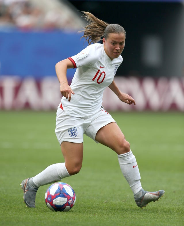 Fran Kirby in action for England