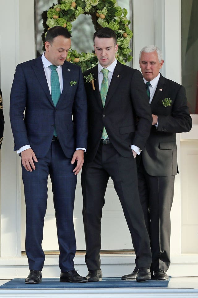 Leo Varadkar, his partner and the US vice-president
