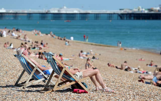 The hottest day each year in the most recent decade is on average warmer than the hottest day each year between 1961-1990 (Andrew Matthews/PA)